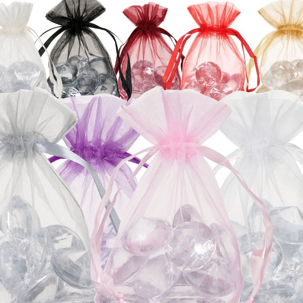 Small Organza Bags 10x15cm Choose Your Color