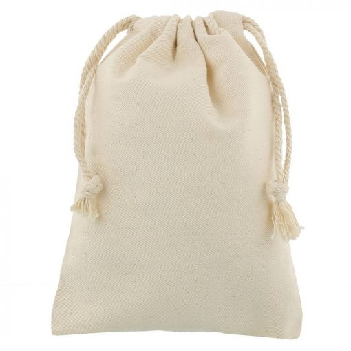 cotton drawstring bag 15x20cmklein