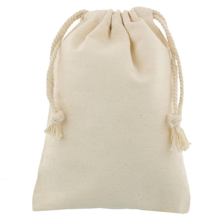 cotton drawstring bag 15x20cmklein