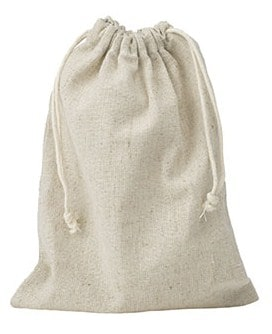 linen drawstring puch large