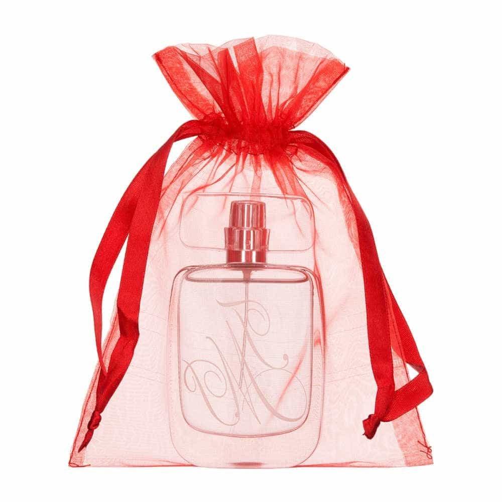 medium organza bag 15x20cm red 2.0