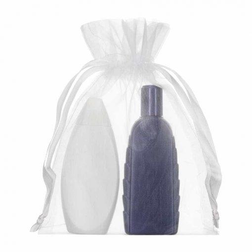 medium organza bag 15x20cm white