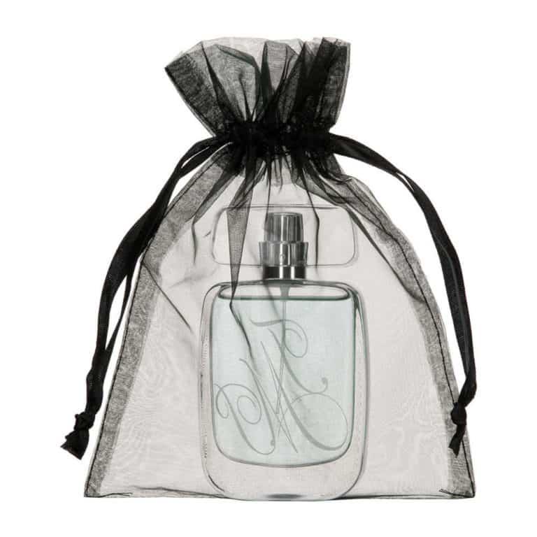 medium organza bag black 15x20cm