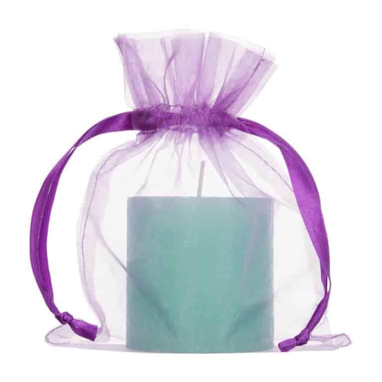 medium organza bag purple 15x20cm 2.0