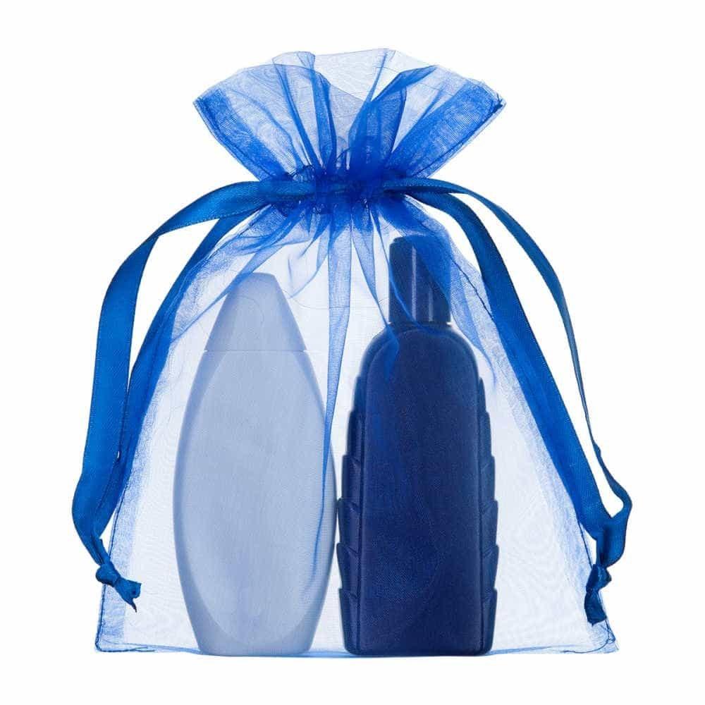 medium organza bag royal blue 15x20cm