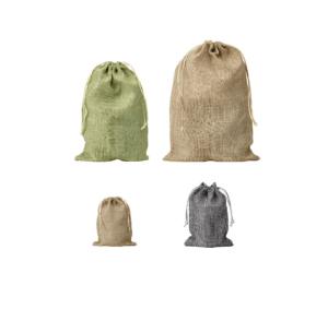 mini jute bags, hessian pouches