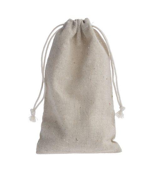 mini linen drawstring bag 10x15cm