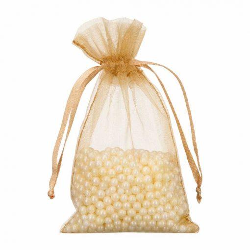 mini organza bag 7x12cm gold