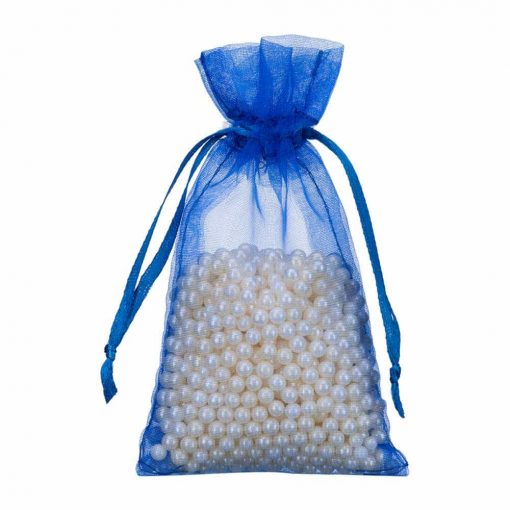 mini organza bag 7x12cm royal blue