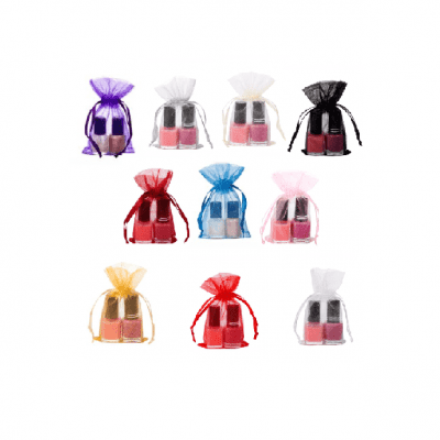 mini organza bags 7x12cm satin ribbon