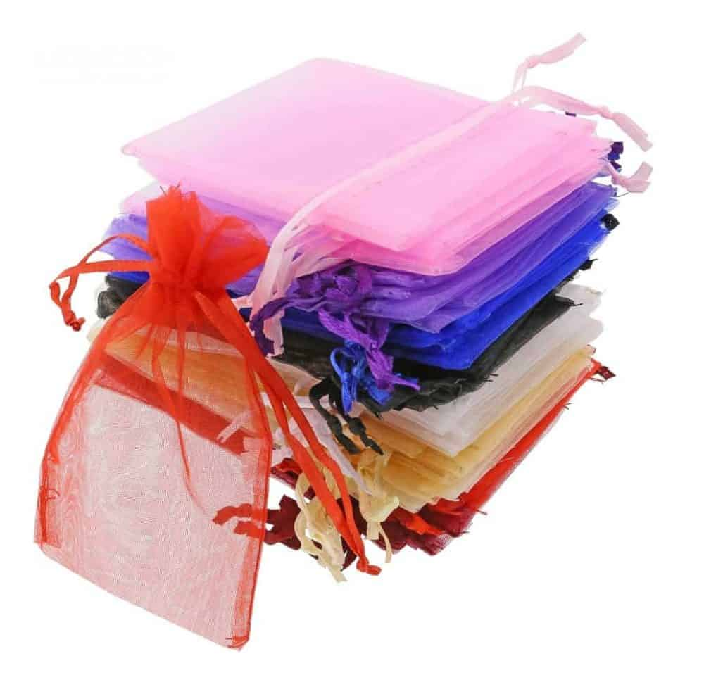 organza bag 7x12cm mixed colours 3.0