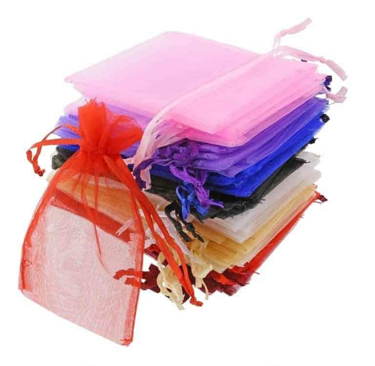 organza bag 7x12cm mixed colours 3.0