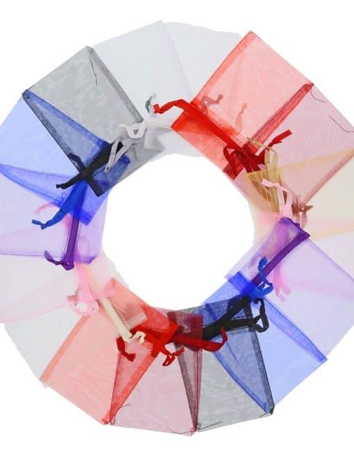 organza bag10x15cm mixed colours 2.0
