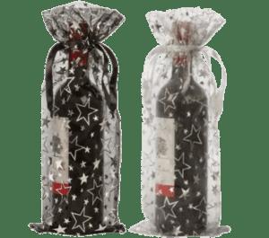 organza bottle bags