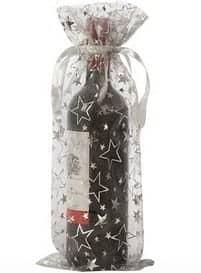 organza bottle bags silver