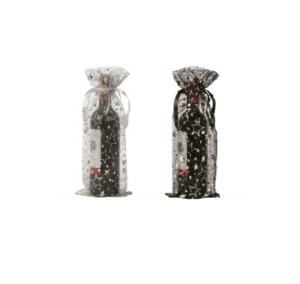 organza bottle bags wine stars