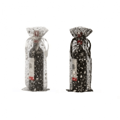 organza wine bottle bags stars