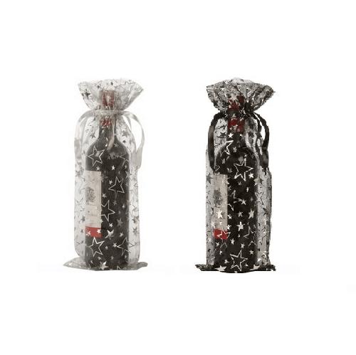 organza wine bottle bags stars
