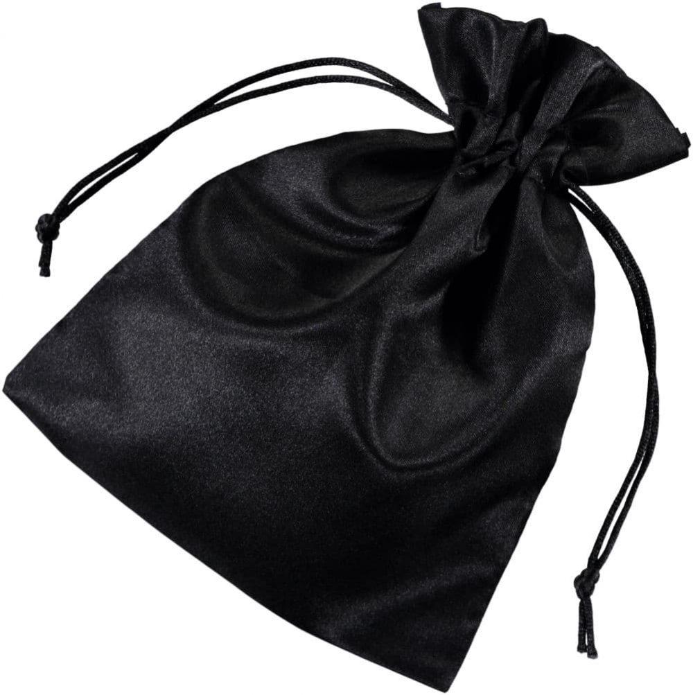 satin drawstring bags black 15x20cm 2.0