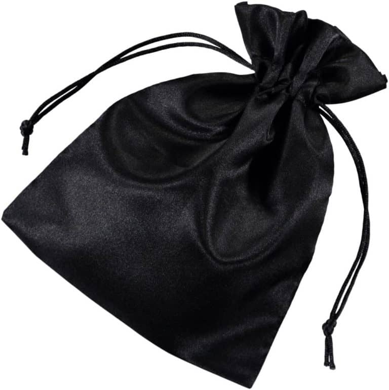 satin drawstring bags black 15x20cm 2.0