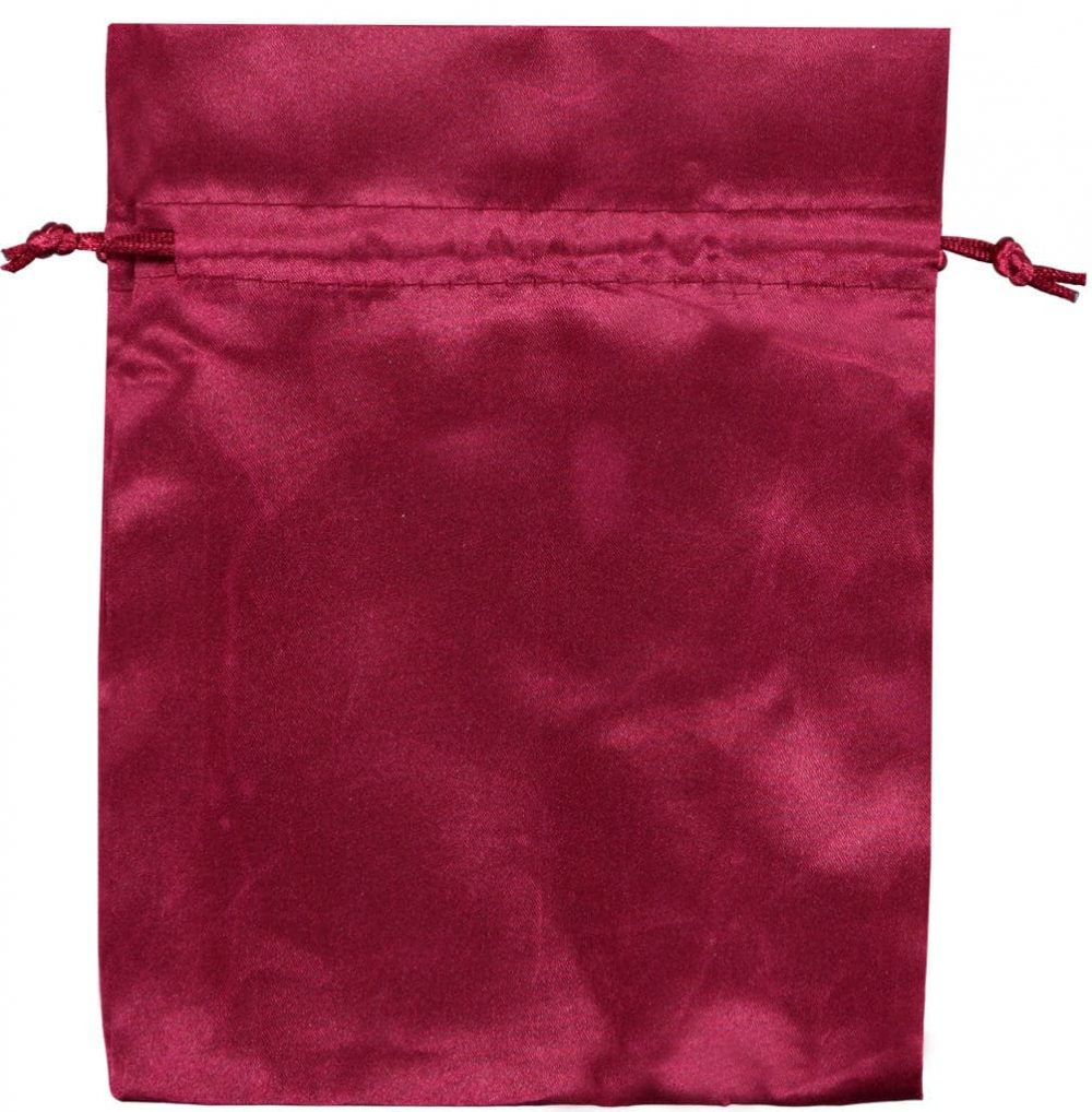 satin drawstring bags red 15x20cm 3.0