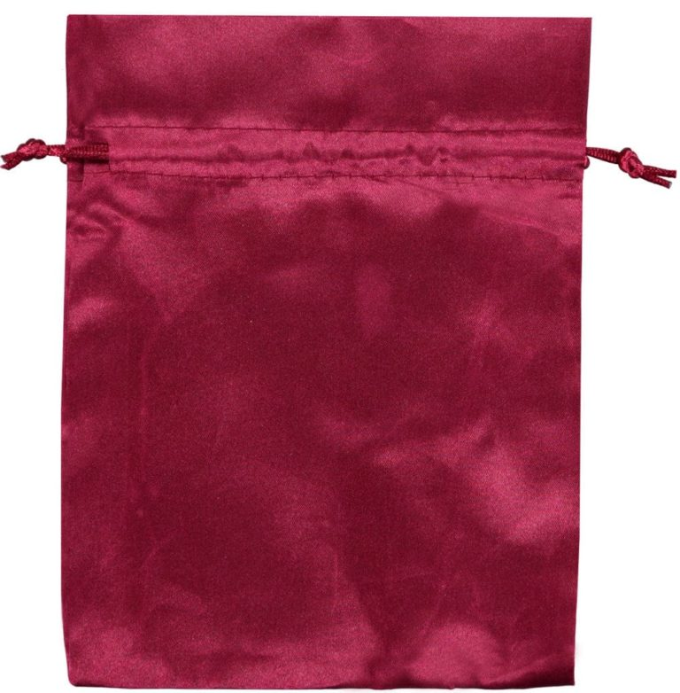 satin drawstring bags red 15x20cm 3.0