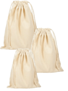 small cotton drawstring bag