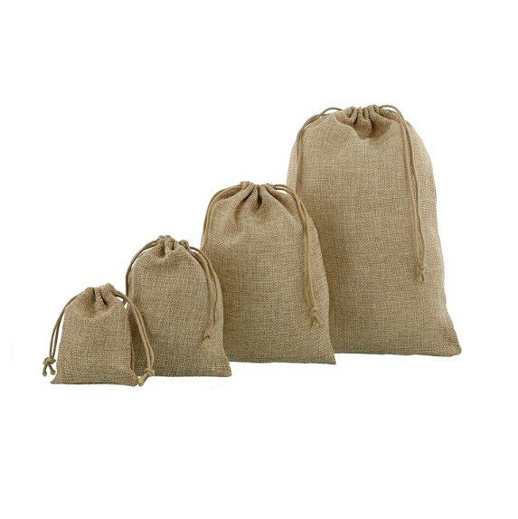 small hessian sacks - mini jute bags composition