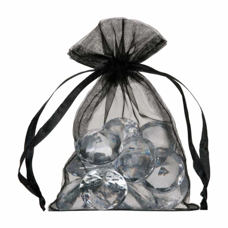 small organza bag 10x15cm black
