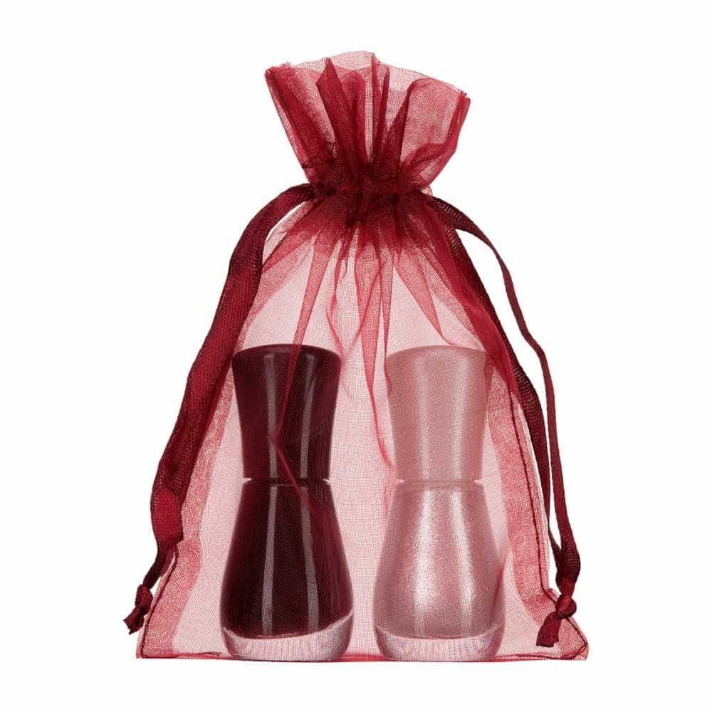 small organza bag 10x15cm bordeaux red 2.0