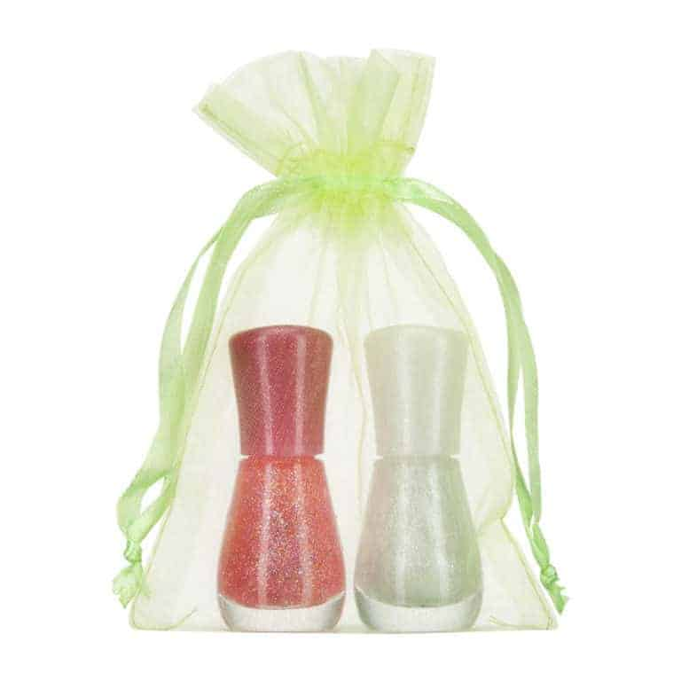 small organza bag 10x15cm lime green