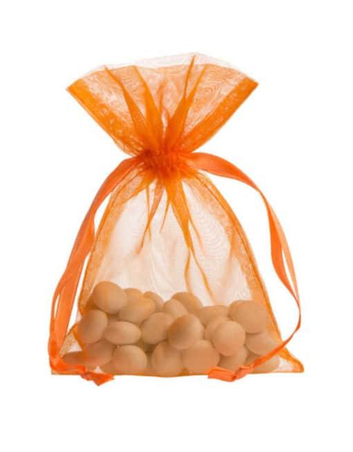 small organza bag 10x15cm orange