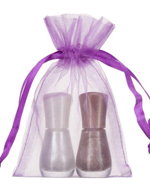 small organza bag 10x15cm purple