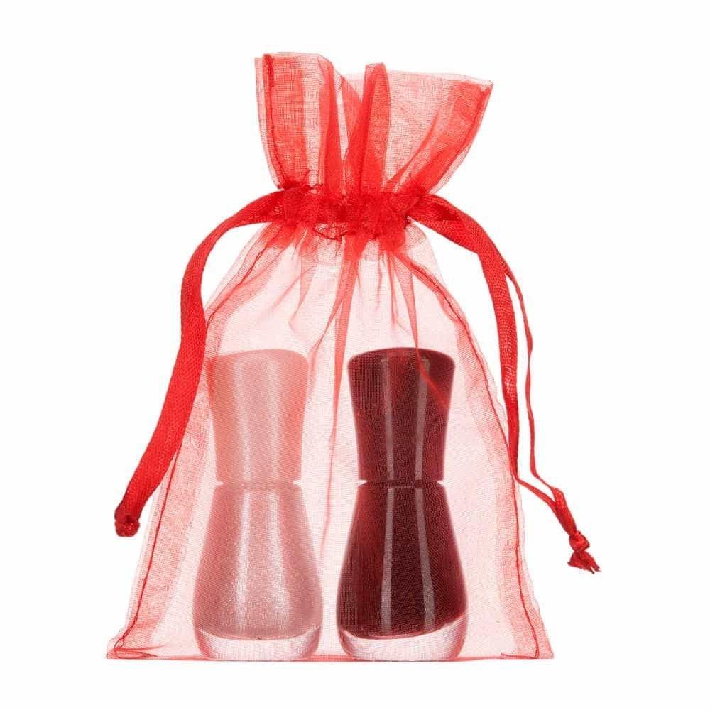 small organza bag 10x15cm red