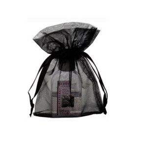 small organza bags 10x15cm satin ribbon black