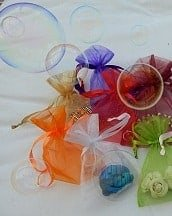 organza bags with balloons