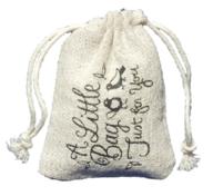 large organza drawstring bags - printed linen bags