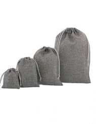 anthracite mini jute bags composition