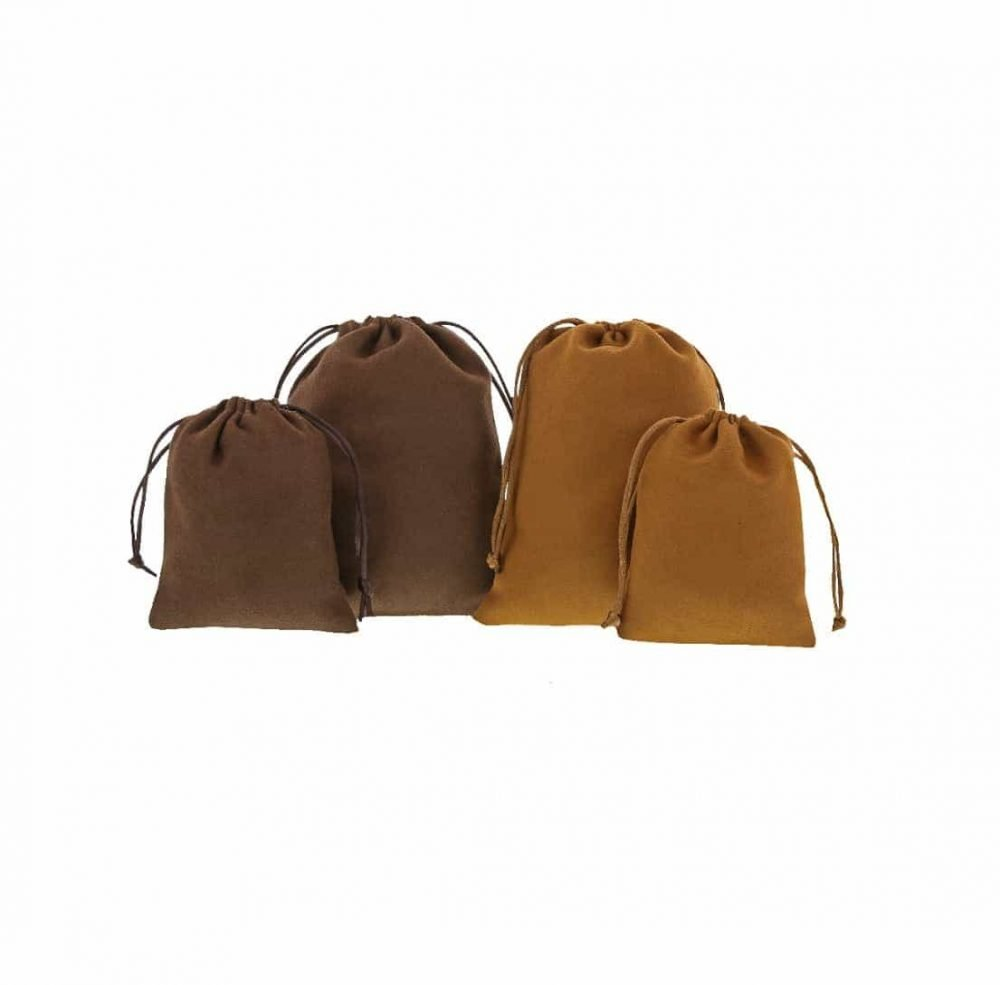 suede pouches