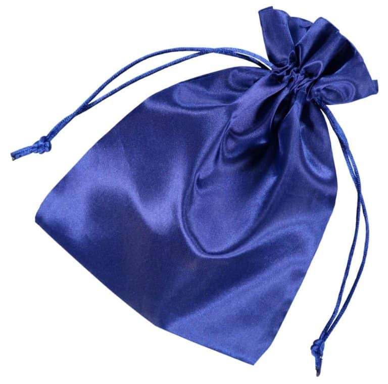 satin drawstring bag 15x20cm blue 2.0