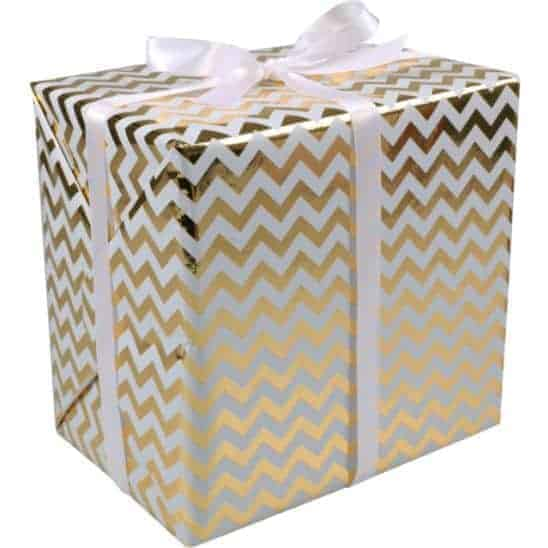 Gift wrapping paper chevron