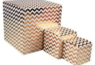 gift box chevron set