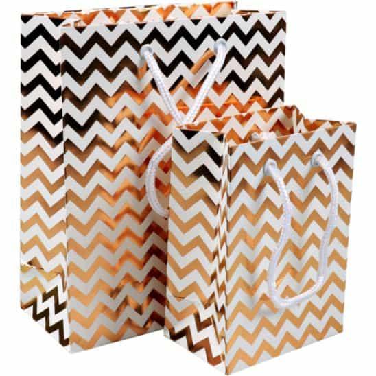 paper gift bag chevron set