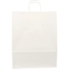 100 pieces Paper Carrier Bags White Twisted 32x12x41cm,