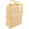 250 pieces Paper Carry Bags Flat Handle Brown size26x12x35cm,