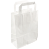 250 pieces Paper Carry Bags Flat Handle White