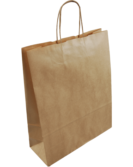 Paper Carrier Bags Brown Twisted Cord 18x8x22cm