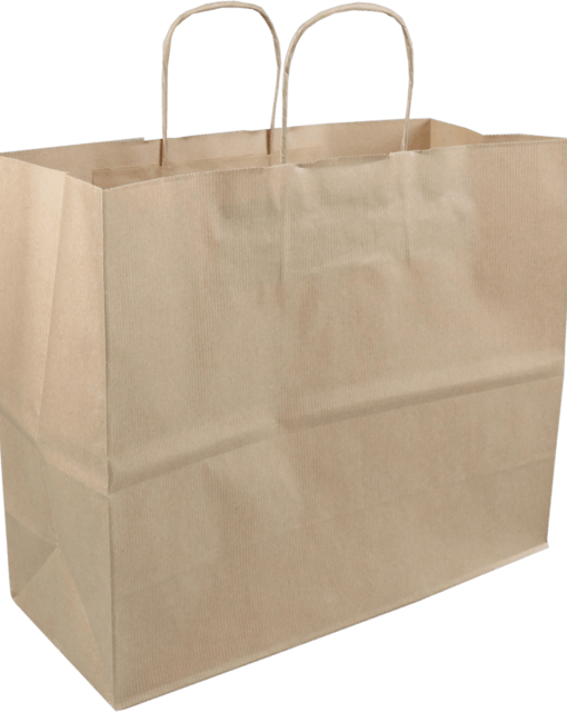 Paper Carrier Bags Brown Twisted Cord 35x14x29cm