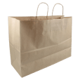Paper Carrier Bags Brown Twisted Cord 45x17x33cm,
