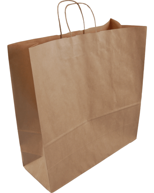 Paper Carrier Bags Brown Twisted Cord 46x17x48cm,